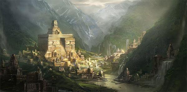 moderní ztvárnění bájné země na severu (v tomto případě severní Šambhala z burjatských, mongolských a tibetských legend)