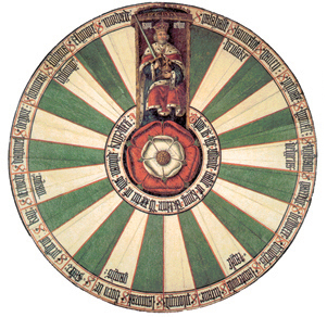 stůl krále Artuše zhotovený ve 14. stol. v Anglii